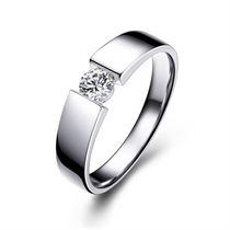 【风尚】 白18k金钻石男士戒指