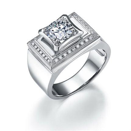 【至尊】 白18k金钻石女士戒指