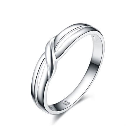 【凝爱】 白18k金男士戒指