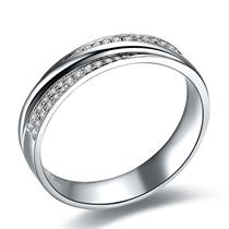 白18k金男士戒指【闪耀之爱】