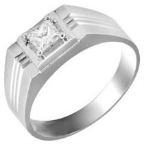 【风神】 白18k金33分/0.33克拉钻石男士戒指