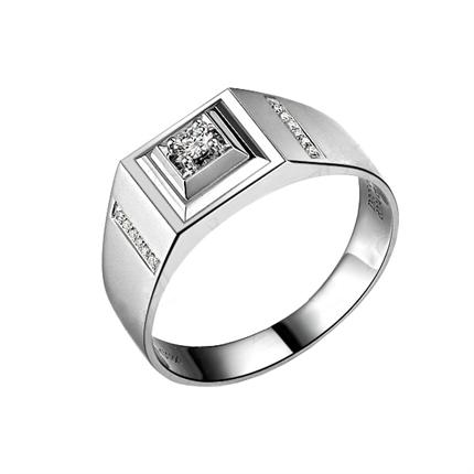 【风雅】 白18k金钻石戒指