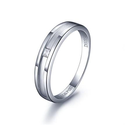 【守護】  白18K金鉆石戒指
