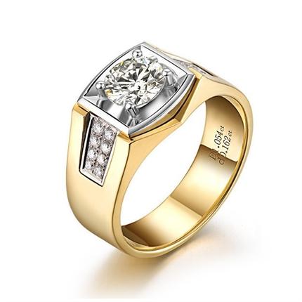 【神驰】 18K金男士钻石戒指