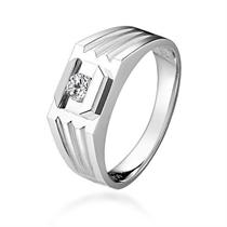 【遐爱】 白18k金男士戒指