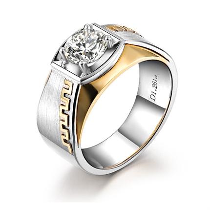 【伯爵 爱的长城】 18k金钻石男士戒指