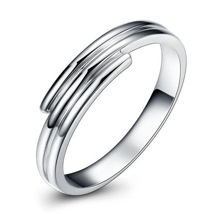 【一生诺言】 白18K金男士戒指