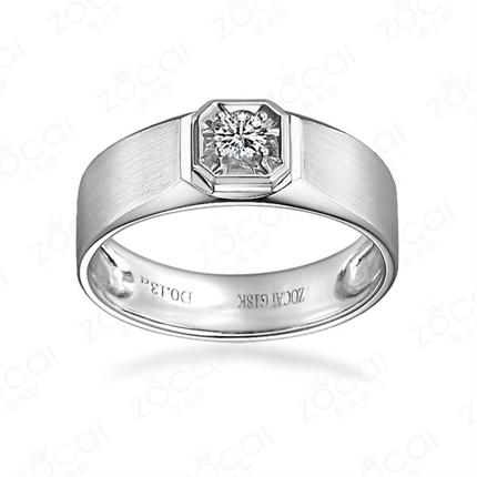 【英朗 】 白18k金钻石男士戒指