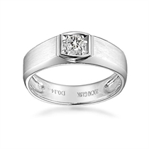 白18k金鉆石男士戒指【鐘愛一生】