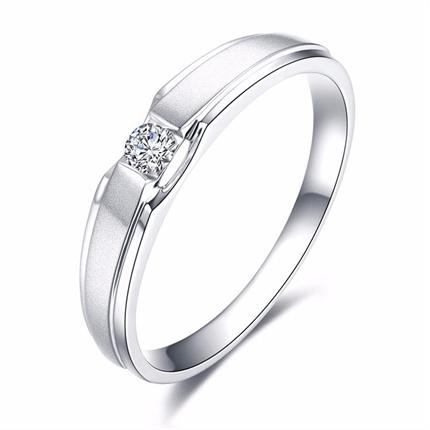 【命中注定】 PT950铂金3分/0.03克拉钻石女士戒指