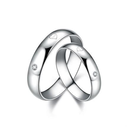 【钻石之心】 精品钻石情侣对戒