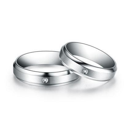 【幸福起点】 钻石情侣对戒镶钻对戒