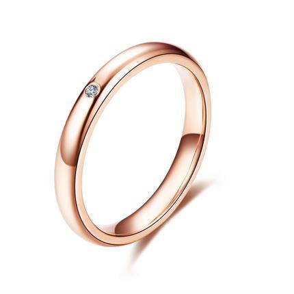 【我和你】 玫瑰18K金钻戒钻石对戒女款戒指