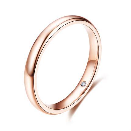 【爱情秘语】 玫瑰18K金钻戒对戒男款戒指