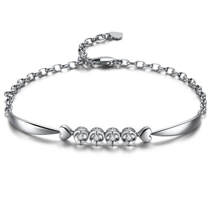 【天使之吻】系列 白18k金钻石手链