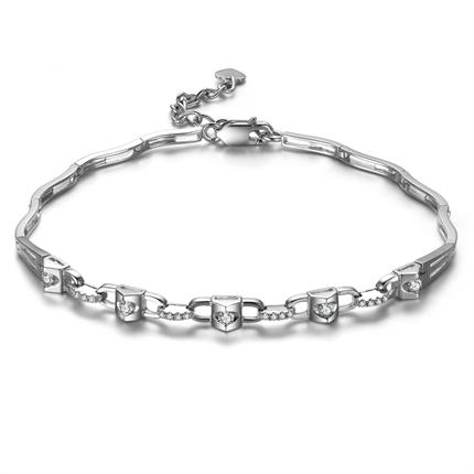 【真爱一生】 白18k金13分/0.13克拉钻石手链