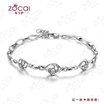 【巧蕊】  白18k金7分/0.07克拉钻石手链
