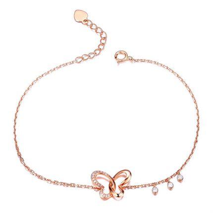 【梦呓】系列 0.06 克拉18K玫瑰金钻石手链