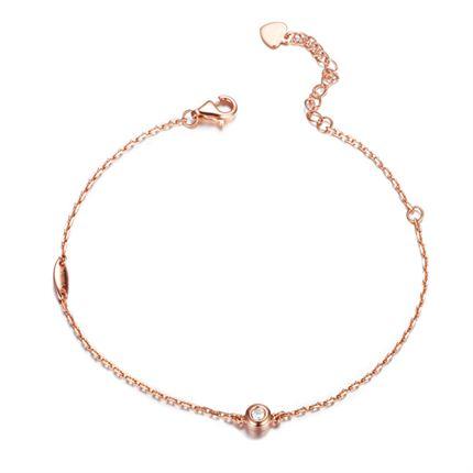 【波点】系列 玫瑰18K金0.05克拉/5分钻石女士手链