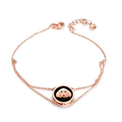 【萌宠】系列 玫瑰金钻石手链
