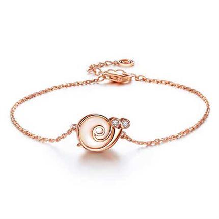 【幸运精灵-蜗牛小姐】 玫瑰金钻石女士手链