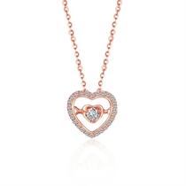 【小心情】 玫瑰18K金新款钻石吊坠