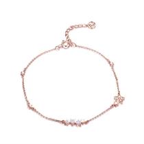 【星缘】 玫瑰18K金星型钻石手链