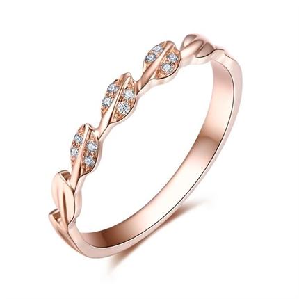 【橄榄枝】 玫瑰18K金钻石女款戒指