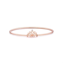 【一生的公主】 18K玫瑰金皇冠钻石手镯彩金镶钻