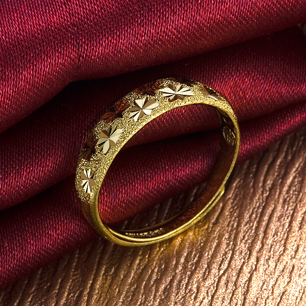千足金黄金戒指-千足金女式戒指