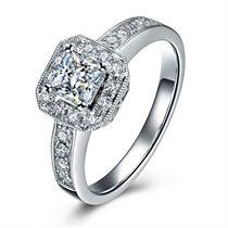 白18K金钻石戒指