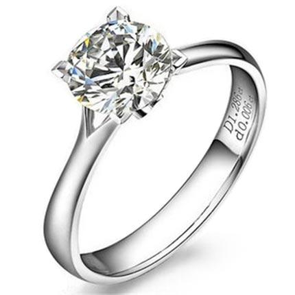 【简爱】 白18k金钻石女士戒指
