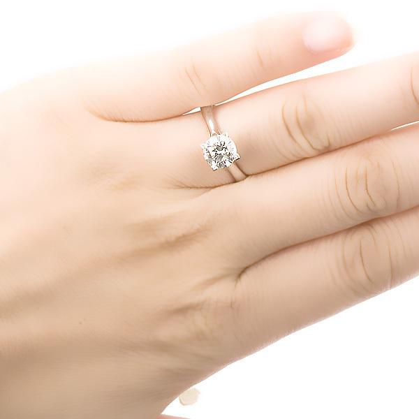 白18K金钻石1.08克拉钻石女士戒指  简爱