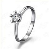 【爱 白】 白18k金20分/0.20克拉钻石戒指