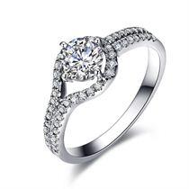 【触动的爱】系列 白18k金 钻石结婚戒指