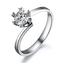 【唯爱你】 白18k金0.32克拉钻石戒指