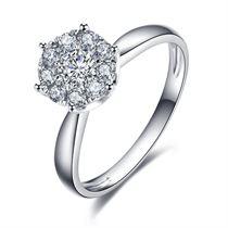 【璀璨之爱】 白18k金0.21克拉钻石戒指