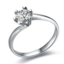 【在水一方】 白18k金钻石戒指