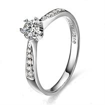 【莹彩】 白18k金20分/0.2克拉钻石戒指