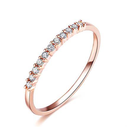 【公主】 排镶12分钻石戒指