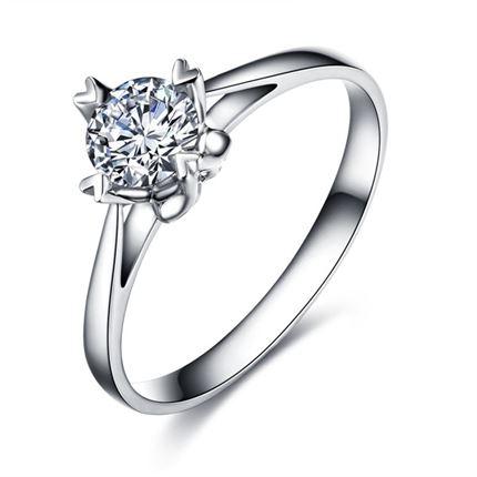 【典雅】 白18k金23分/0.23克拉钻石戒指