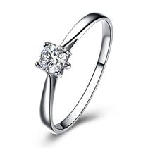 【蝶恋】 白18k金20分/0.2克拉钻石戒指