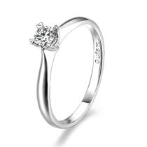 【绝代佳人】 白18k金15分/0.15克拉钻石戒指