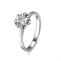 【雪花】 白18k金33分/0.33克拉钻石戒指