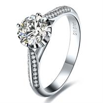 【冬季恋歌】 白18k金30分/0.3克拉钻石戒指