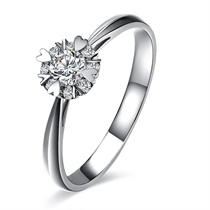 【璀璨星辰】 白18k金0.24克拉钻石戒指