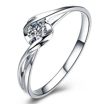 【邂逅】系列 白18k金钻石女戒