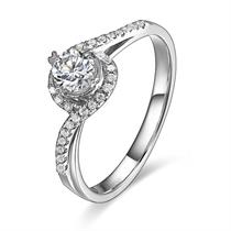 【拥爱】 白18k金30分/0.30克拉钻石戒指