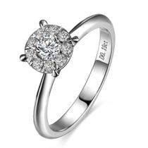【梦想之光】 白18k金20分/0.2克拉钻石戒指