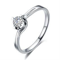 【暖色】 0.12克拉18k钻石戒指
